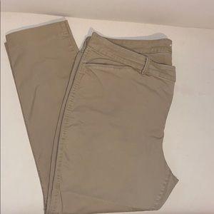 Khaki Old Navy Pixie Chino Pants